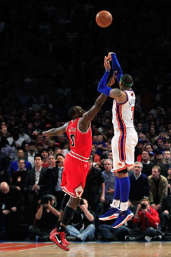 Carmelo Anthony and Luol Deng