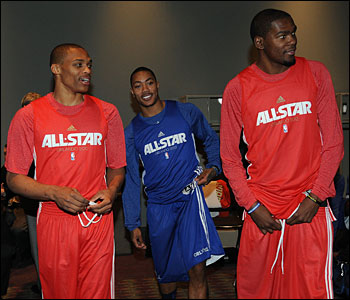 Westbrook, Rose and Durant