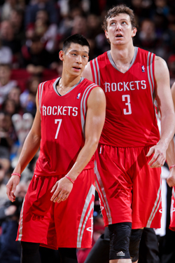 Jeremy Lin and Omer Asik