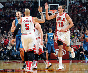 Carlos Boozer and Joakim Noah