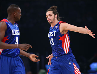 Joakim Noah and Luol Deng