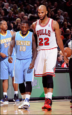 A fan favorite during his tenure with the Bulls, Robinson returned to the United Center as a member of the Nuggets on Friday.