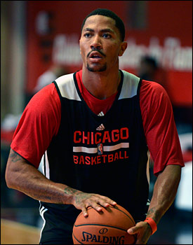 """""""Just being in the building, just seeing all the employees,"""" Rose said about Wednesday's return to the United Center. """"Just feeling like the regular season even (if it is) preseason. I think we'll be happy to be back there and put on a show."""""""