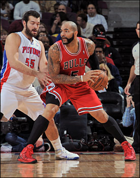 """It became a Bulls kind of game, the sort they'll need to play without Rose,"" notes Smith. ""They got their assists up again, thus with more ball movement, to 24 for 12 for the Pistons."""