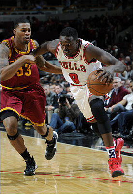 Deng and the Bulls led 45-36 at halftime. But the Bulls' shooting touch suddenly seemed to be with winter gloves as they hit 35 percent in the third quarter while the Cavs pounded the ball inside.