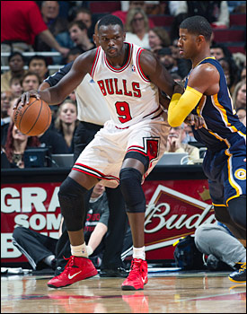 Against Indiana last year, Luol Deng led the  Bulls with 16.3 ppg, 6.3 rpg and 2.0 apg in 39.5 mpg.