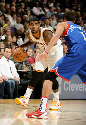 Irving scored 39 points - two shy of his career best - and handed out 12 assists as Cleveland edged Philadelphia 127-125 in double overtime Saturday.