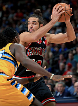 Noah finished just short of a triple-double with 11 points, 12 rebounds, including seven offensive, and eight assists.