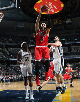 Boozer had 21 points and 10 rebounds. He has a career average of more than 20 per game against the Grizzlies, his best against any team.