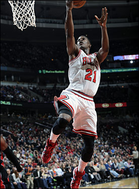 Jimmy Butler scored 11 points, but Chicago fell to 9-13 on the season.