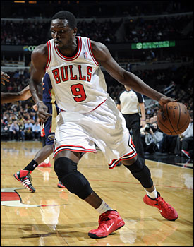 Luol Deng recorded 37 points, eight rebounds and seven assists as the Bulls fell in triple overtime.