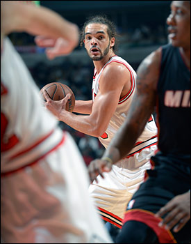 """We don't like the Miami Heat,"" said Noah. ""It always feels good to beat them. Lot of battles, lot of scars, lot of tough losses. Lot of seasons ending because of them. Our team needed it."""