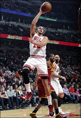 Noah equaled a season high with 18 rebounds, three fewer than the entire Cavs starting five. Noah added 11 points in just 31 minutes.