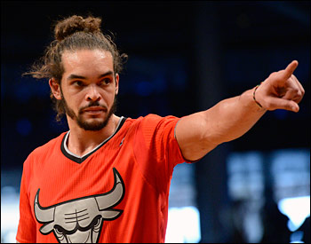Noah had 10 points, eight rebounds and three assists in Chicago's Christmas Day win over Brooklyn.