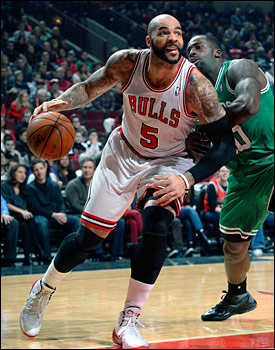 """Losing Derrick (Rose) hit us harder than we expected,"" said Boozer, who is likely out Tuesday against the Suns. ""It was difficult to get over. But we are climbing. This is a chance to make a move and climb a little bit."""