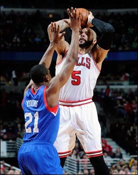 Boozer had his 12th double-double with 15 points and 13 rebounds.