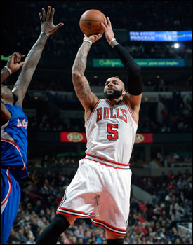 Boozer led the Bulls with 22 points.