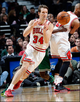 Dunleavy finished with 11 points as one of six Bulls in double figures.