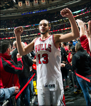 """You can't take anything for granted,"" Noah was saying when asked about basketball but talking about some life lessons as well. ""You never know what can happen. A lot of ups and downs; we've dealt with a lot of punches thrown at us. We always fought back because this team is resilient."""