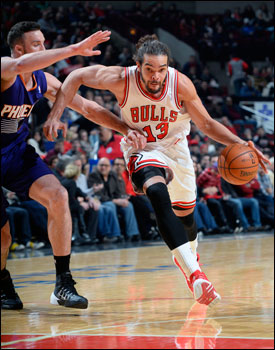 Noah did again with his team best 13th double-double and exceeded five assists for the sixth time, the most among NBA centers.