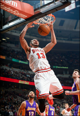 Led by Noah, the Bulls have confounded the experts after losing Derrick Rose for the season and trading Luol Deng by winning nine of 11 to get over .500 midway through the season.