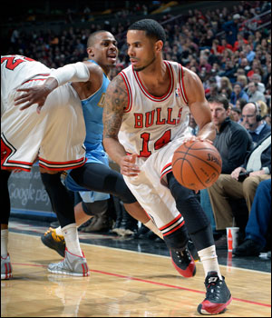 It's been a big run for several Bulls with Noah averaging 13.7 points, 11.2 rebounds and 8.3 assists the last six games and Augustin shooting 59.4 percent on threes with 19 of 32 the last seven games.