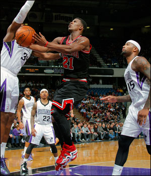 Jimmy Butler with 17 points was the only Bulls starter to score in double figures.