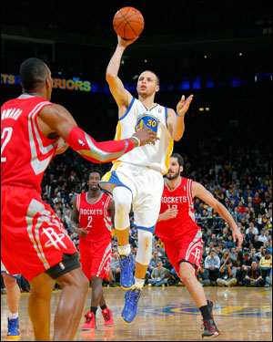 All-Star guard Stephen Curry is averaging 24.2 points and 8.9 assists for the Warriors.