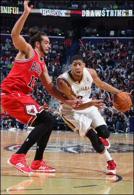 """""""He hit a lot of shots,"""" said Noah of Davis, who made his share of jump shots, blocked six and made the Bulls change another 18 or so. """"Very active player defensively. Great player."""""""