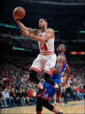 D.J. Augustin, with another fourth quarter of clutch plays, and Taj Gibson each added 16 points off the bench as the Bulls came back from trailing basically the entire first half.