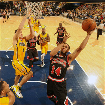 D.J. Augustin scored 17 for the Bulls, who will meet the Pacers again on Monday at the United Center.