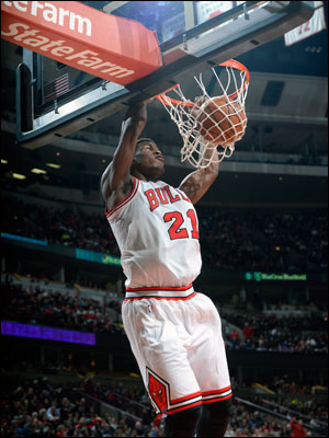 The Bulls got an all around excellent game from Jimmy Butler with 17 points, eight rebounds and six assists and tough defense on 76ers rookie Michael Carter-Williams, who shot three of 14.