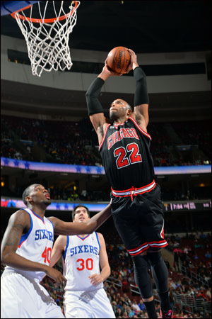 Taj Gibson, who had 19 points and 13 rebounds, scored 10 of his points in the fourth quarter.