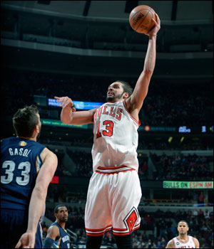 """They outplayed us,"" acknowledged Joakim Noah, who had 15 points, the only starter in double figures, along with eight rebounds and six assists but six turnovers."