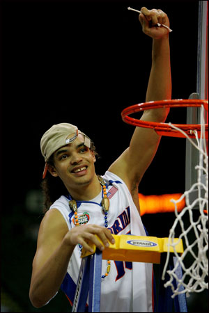 Joakim Noah helped lead the University of Florida to back-to-back national championships in 2006 and 2007.