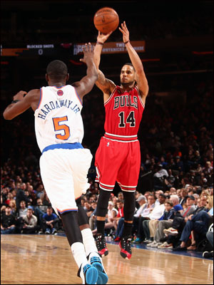 D.J. Augustin and the Bulls are 47-33 with two games remaining and the last regular season home game Monday against Orlando.