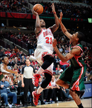 Butler and the Bulls are  now 29-2 when they score at least 96 points and 12-1 when their five starters are in double figures like they were against the Bucks.