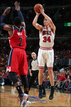Mike Dunleavy and the Bulls take aim at evening their first round series with Washington on Tuesday night at 8:30 p.m.