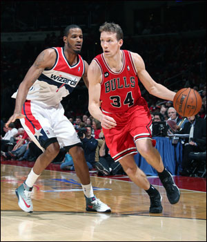 Dunleavy, with a career playoff high of 35 points, more than doubling his previous best, 11 more than his season high and just one short of his career most, and with a team record eight three-pointers, saved the Bulls season.