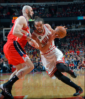Noah's Bulls had double digit second half leads in both games. Down 2-0 is a big deficit in the playoffs, but 2-1 maybe gets the other guys thinking they better get this next one.