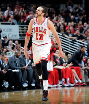 """""""They've probably got the best group of versatile big men and good chemistry with a long run of good health and the same group playing together,"""" writes Smith of Noah and the Bulls. """"They're the story of the East being a contender without Derrick Rose and Luol Deng."""""""