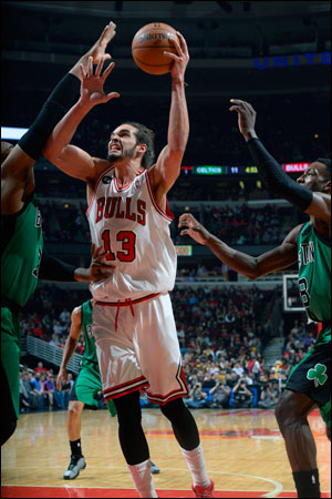 There is no big star on this Bulls team without Rose, though Noah has been getting plenty of accolades this season and is averaging 14 points, 10 rebounds and 7.5 assists in March as one of the league's top players of the month.