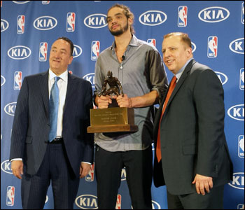 """""""Joakim is many things for our team and he has proven to be a terrific competitor, leader and teammate.  But what Joakim truly is, is a winner,"""" said Bulls GM Gar Forman."""