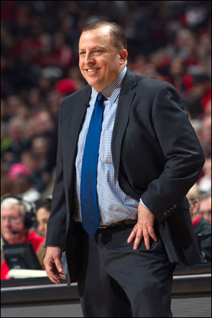 "That's just another of the curiosities of the series as Thibodeau was viewed as the next Wizards coach in 2007,"" writes Smith."