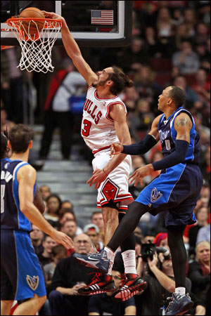 Joakim Noah was voted on to the 2013-14 All-NBA First Team along with Kevin Durant, LeBron James, James Harden and Chris Paul.