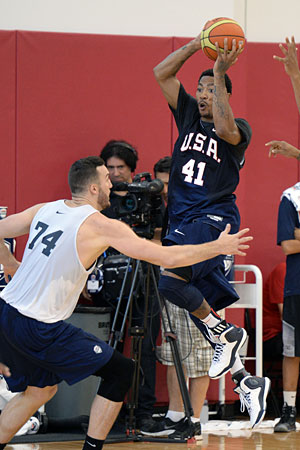 """I think he's been absolutely terrific these first two days,"" said USA Basketball coach Mike Krzyzewski. ""Nothing that he does will ever surprise me. Look, he is one of the elite players and he's a fabulous kid. Not a good kid, a fabulous young man and team player."""